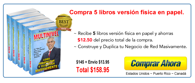 Compra 5 libros Multinievel
