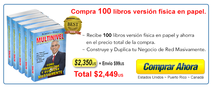 Compra 100 libros Multinievel