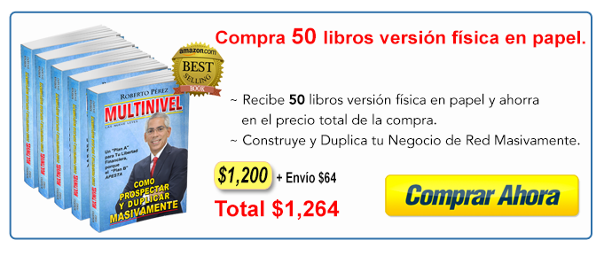 Compra 50 libros Multinievel