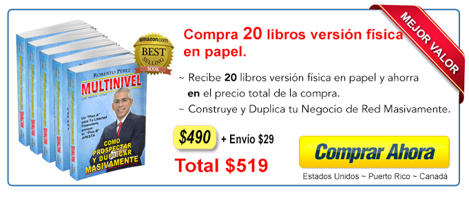 Compra 20 libros Multinievel